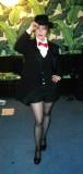 Suzanne Vega in black pantyhose