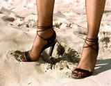 Lulu, stockings and high heels