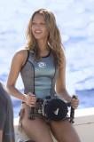 Jessica Alba in wetsuit