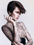 Latex dress in Vidal Sassoon ads