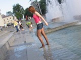 Moscow, summer, fountains, wet pantyhose. Part II