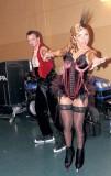 Tatiana Navka in shiny pantyhose, stockings and skates