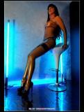 stella-35 van Gent  in semi-transparent latex lingerie and high-heels
