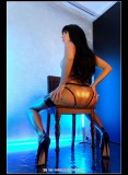 stella-41 van Gent  in semi-transparent latex lingerie and high-heels