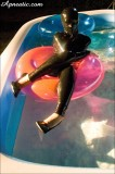 apnea-52 encased in latex in a pool
