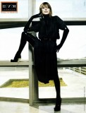 Milla Jovovich in latex stockings and latex gloves