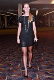 Elena Dementieva in sheer black shiny pantyhose or being in time. Part I