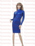 Stumbled upon on eBay. Royal blue latex dress