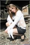 The art of glossy pantyhose. Part IV. Katerina Zhygda