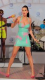 Katy Perry latex dress New York Times Square