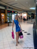 latex dress public shopping