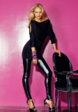 wetlook leggings high heels