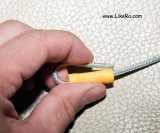 Measure where the crimp will be located