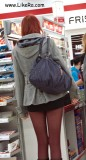 What's wrong with candid photos? Or supermarkets, girls and pantyhose
