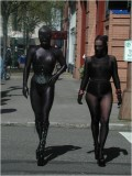 pantyhose encasement in public