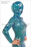 breath control transparent catsuit