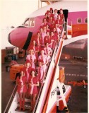 Flight attendants, stewardesses, pantyhose. Part II. Back to the 60's