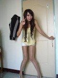 (Shiny) pantyhose with microshorts. A new Indonesian trend?