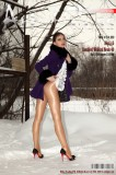 The art of double glossy pantyhose. Part VI. Wolford Neon x 2 + snow