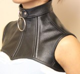 leather over chest posture collar