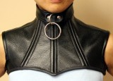 Leather over chest posture collar for a party or self-bondage