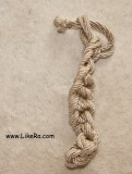 Pass the ends of the rope through the last loop to prevent untying.