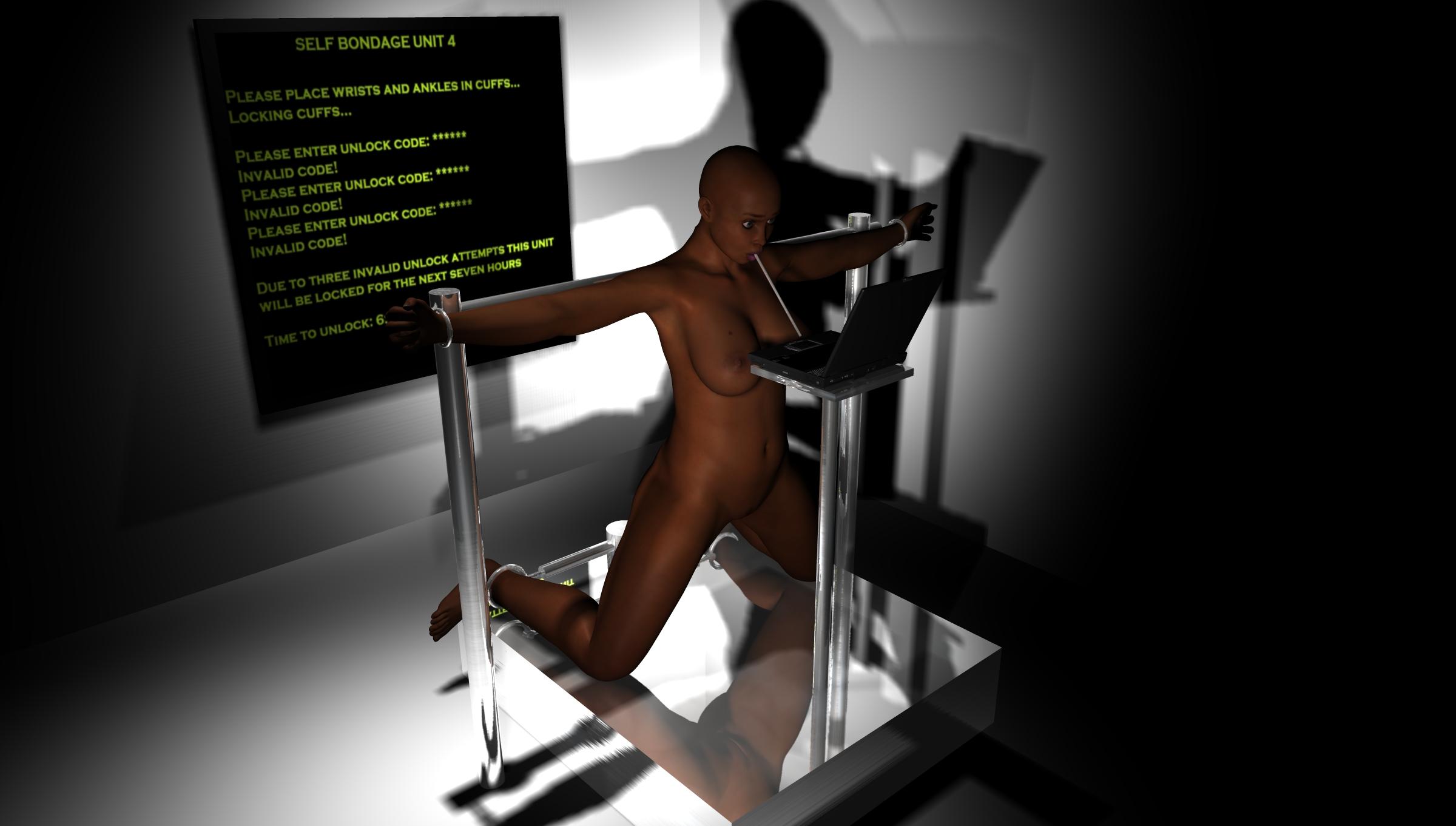 3D Latex Bondage self-bondage art. part xvii. 3d poser pictures. | like ra's
