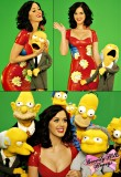 "Katy Perry in a latex dress on ""The Simpsons"" show"