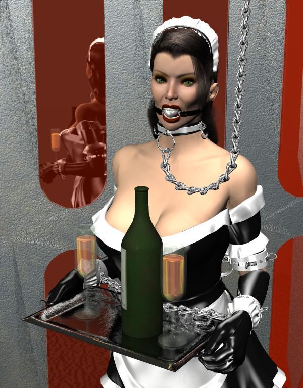 Fetish bondage maid