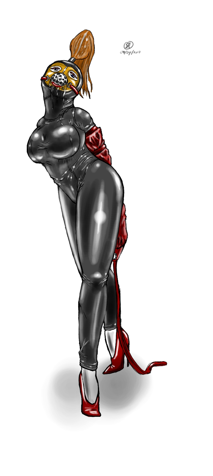 bondage art Latex