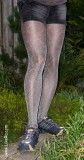 Wolford Python pantyhose. Review. Sport look and men in pantyhose
