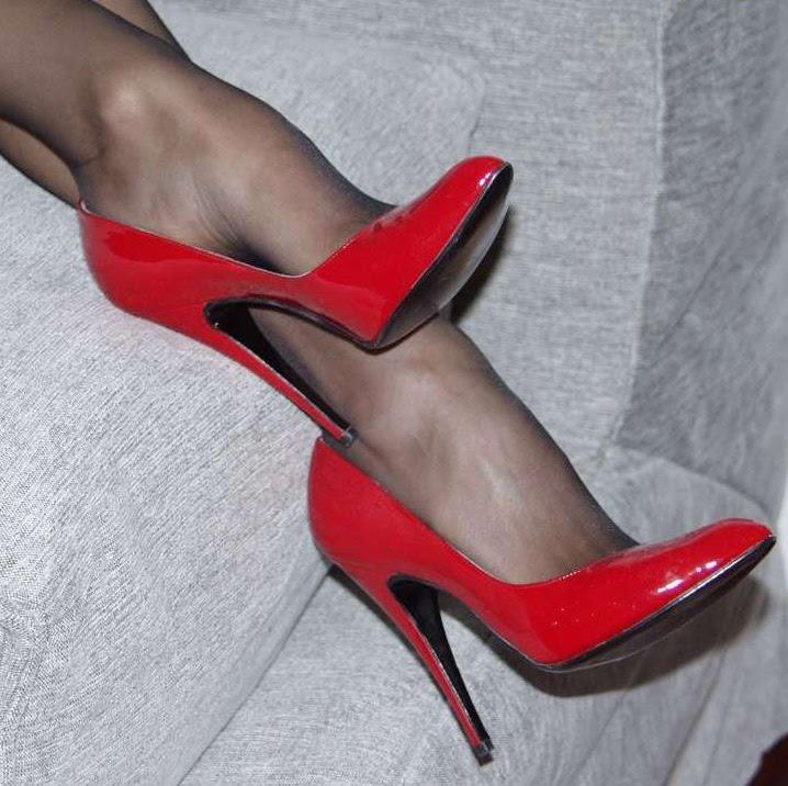 black sheer pantyhose red shoes like ra s naughty blog