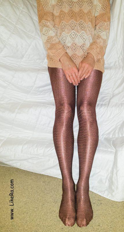 Shiny leather-like Oroblu pantyhose