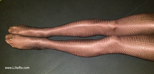 Shiny leather-like Oroblu pantyhose