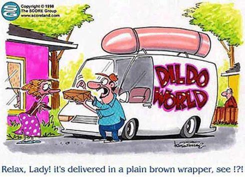 Dildo in a plain brown paper